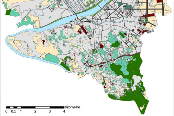 Inventory of green-blue infrastructure in the city of Hue